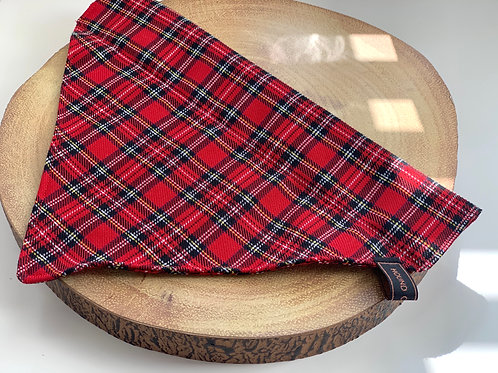 Red and Black Tartan Bandana