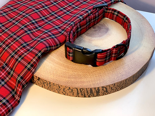 Red and Black Tartan Collar