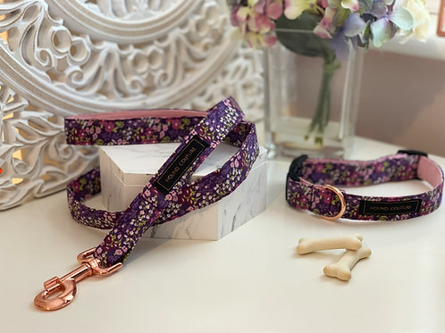 Plum Ditzy Floral Collar