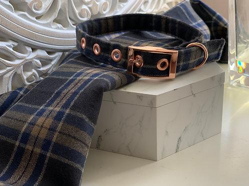 Navy Tartan Collar