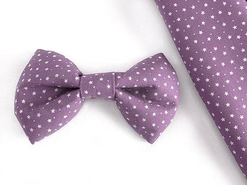 Purple Star Bow Tie