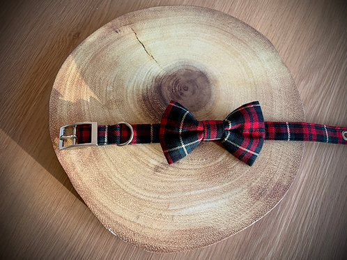 Green and Red Tartan Bow Tie