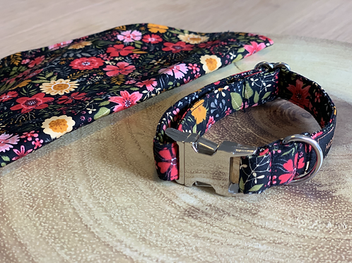 Ebony Winter Floral Collar