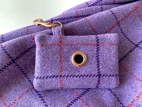 Lilac Check Doggie Bag Holder