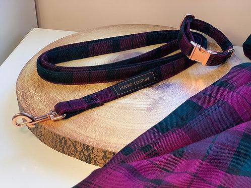 Purple and Emerald Tartan Collar