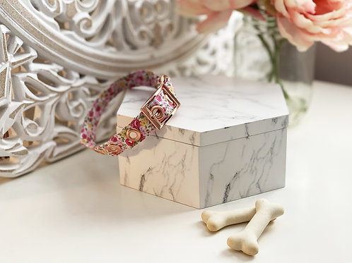 Pink Country Floral Collar