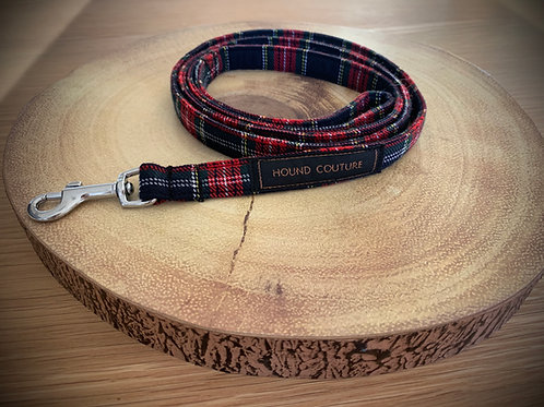 Navy and Red Tartan Lead