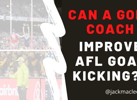 Could a Golf Coach have the answers to AFL's historic low 51% Goal Kicking Efficiency?