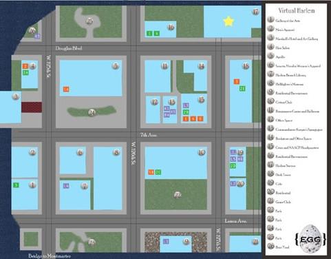 Virtual Harlem Map
