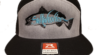 Saltaholics Trout Grey and Black Flatbill Snapback