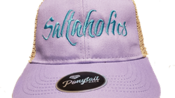 Saltaholics Womens Ponytail Hat Purple meshed