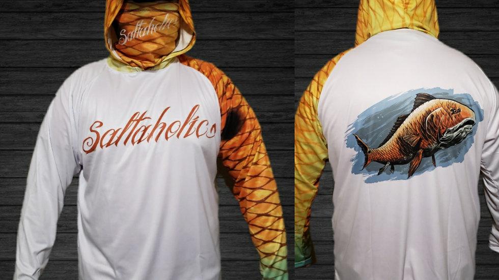 Saltaholics Redfish with hoodie