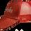 Thumbnail: WOMEN'S PONYTAIL HAT- GLITTER RED