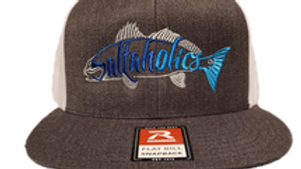 Saltaholics Redfish Grey front White mesh Snapback