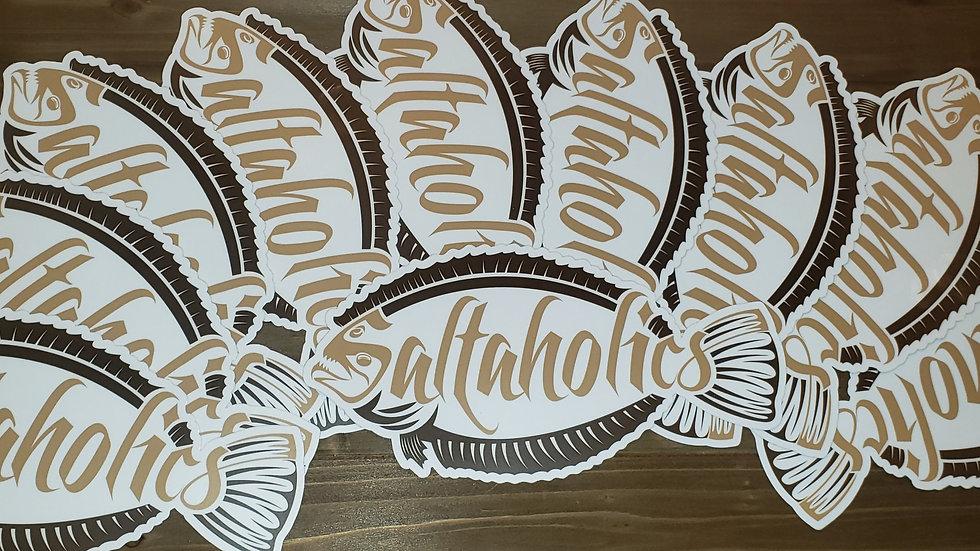 Saltaholics Flounder Sticker