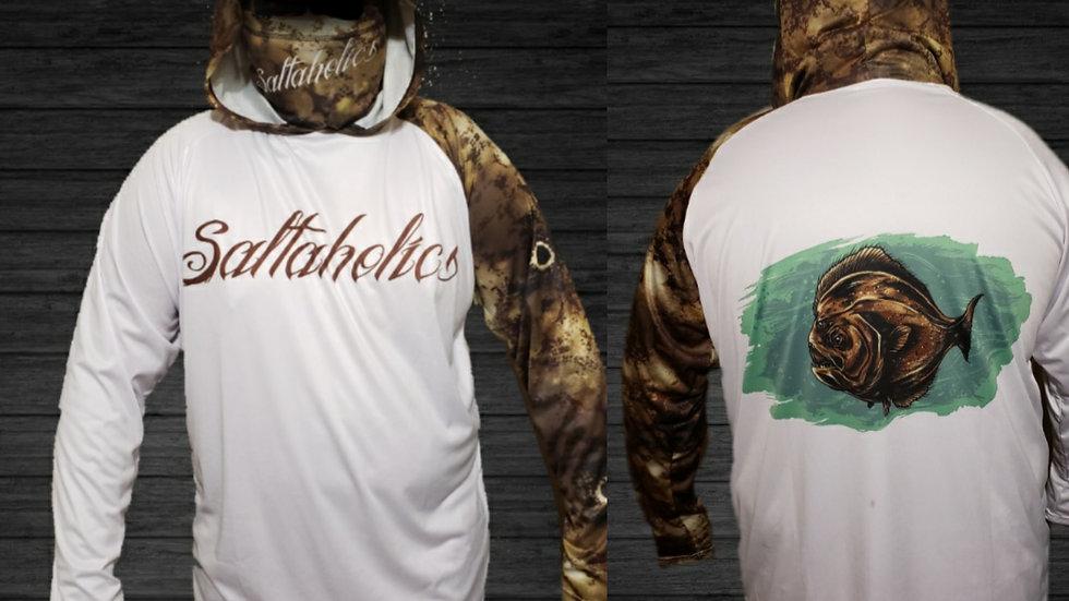 Saltaholics Flounder with hoodie