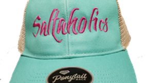Saltaholics womens Ponytail hat Seafoam meshed