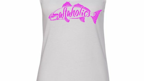 Women's Racer Back Tank Top White