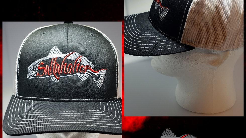 Saltaholics Trout Logo on Black Hat