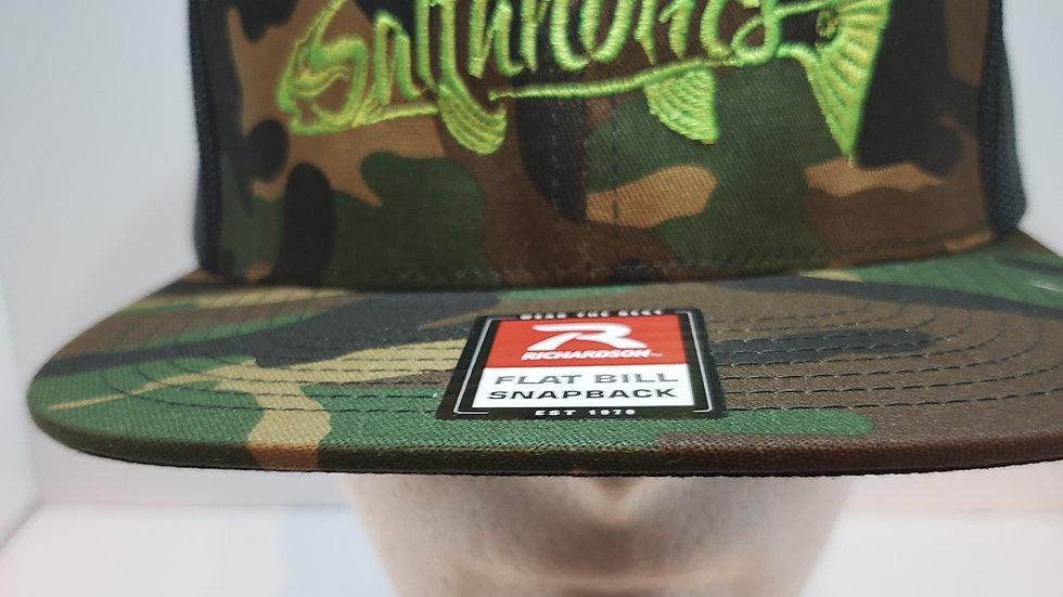 Saltaholics Camo Flat Bill Snapback Hat