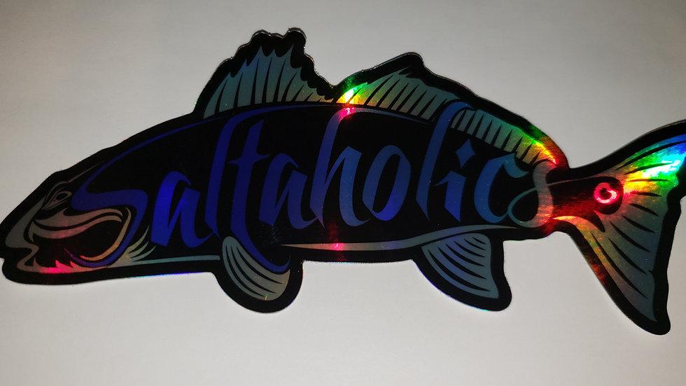 Holographic Redfish Logo Sticker