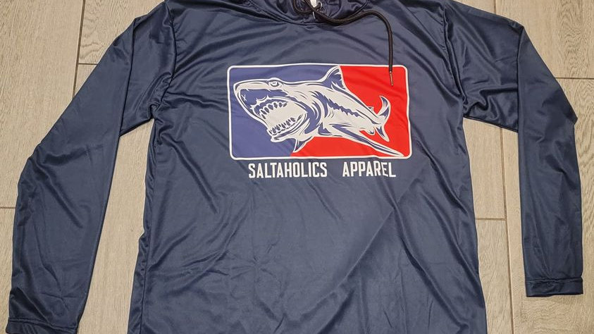 Saltaholics Shark Logo with Hoodie