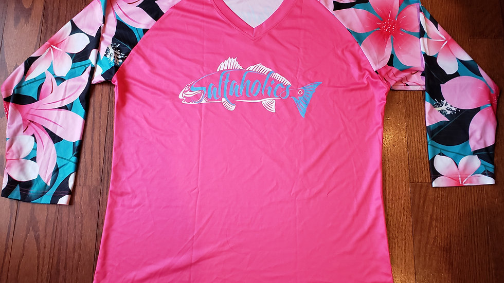 Pink Tropical with Redfish Logo