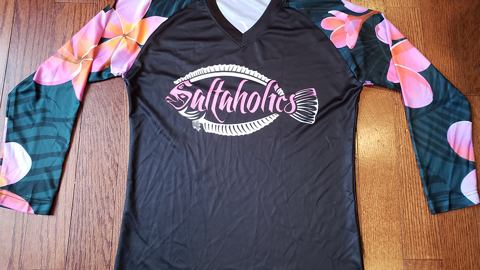 Midnight pink with Flounder Logo