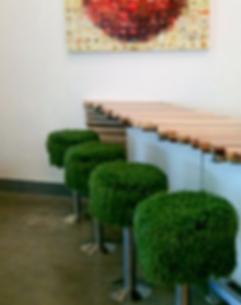 fake grass bar stool
