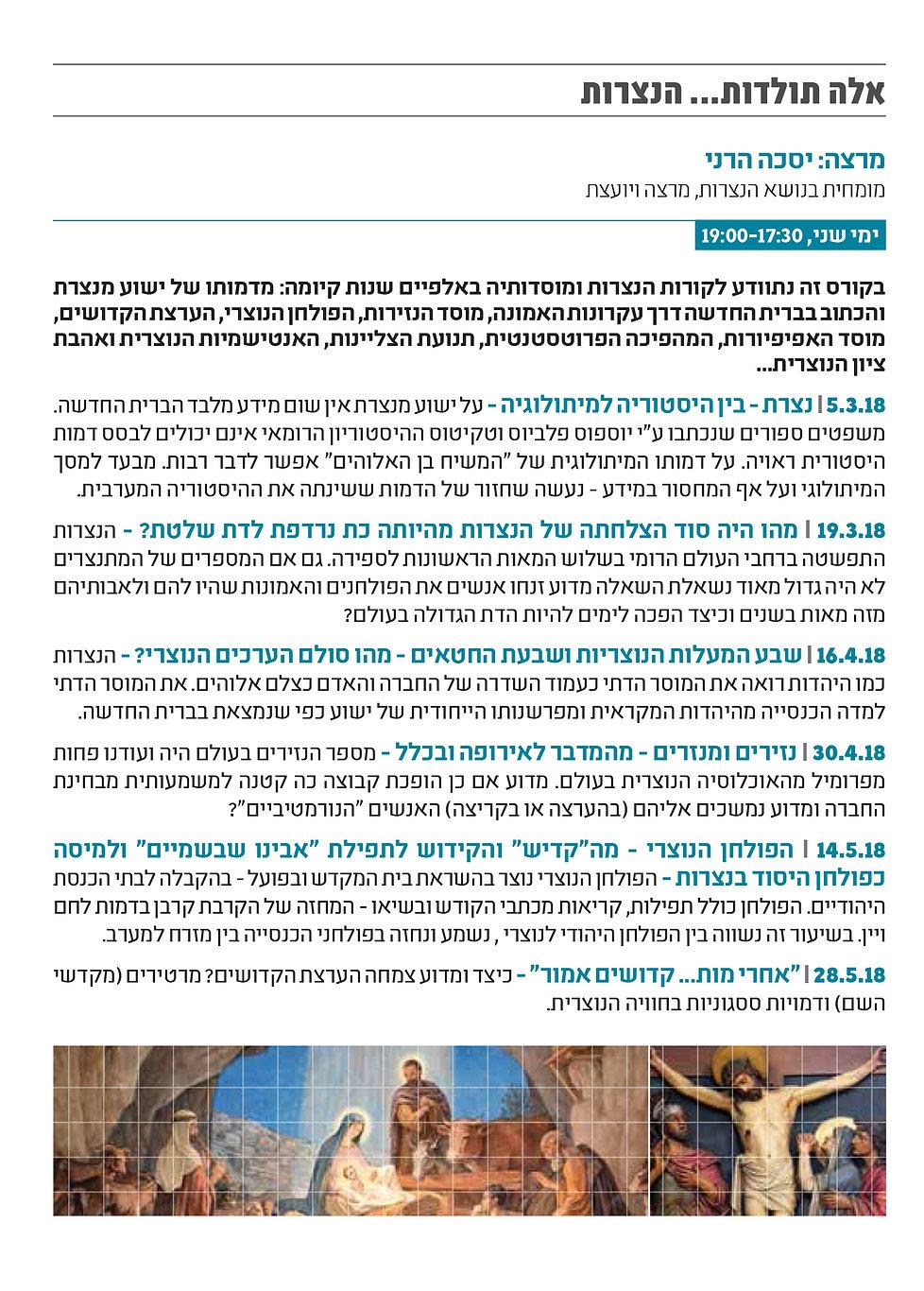 יסכה הרני רמת גן תולדות הנצרות.