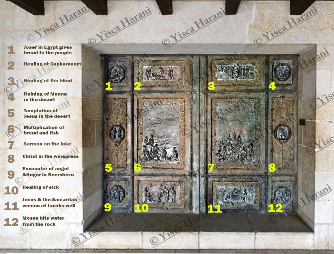 דלת כנסיית הלחם והדגים בטבחה