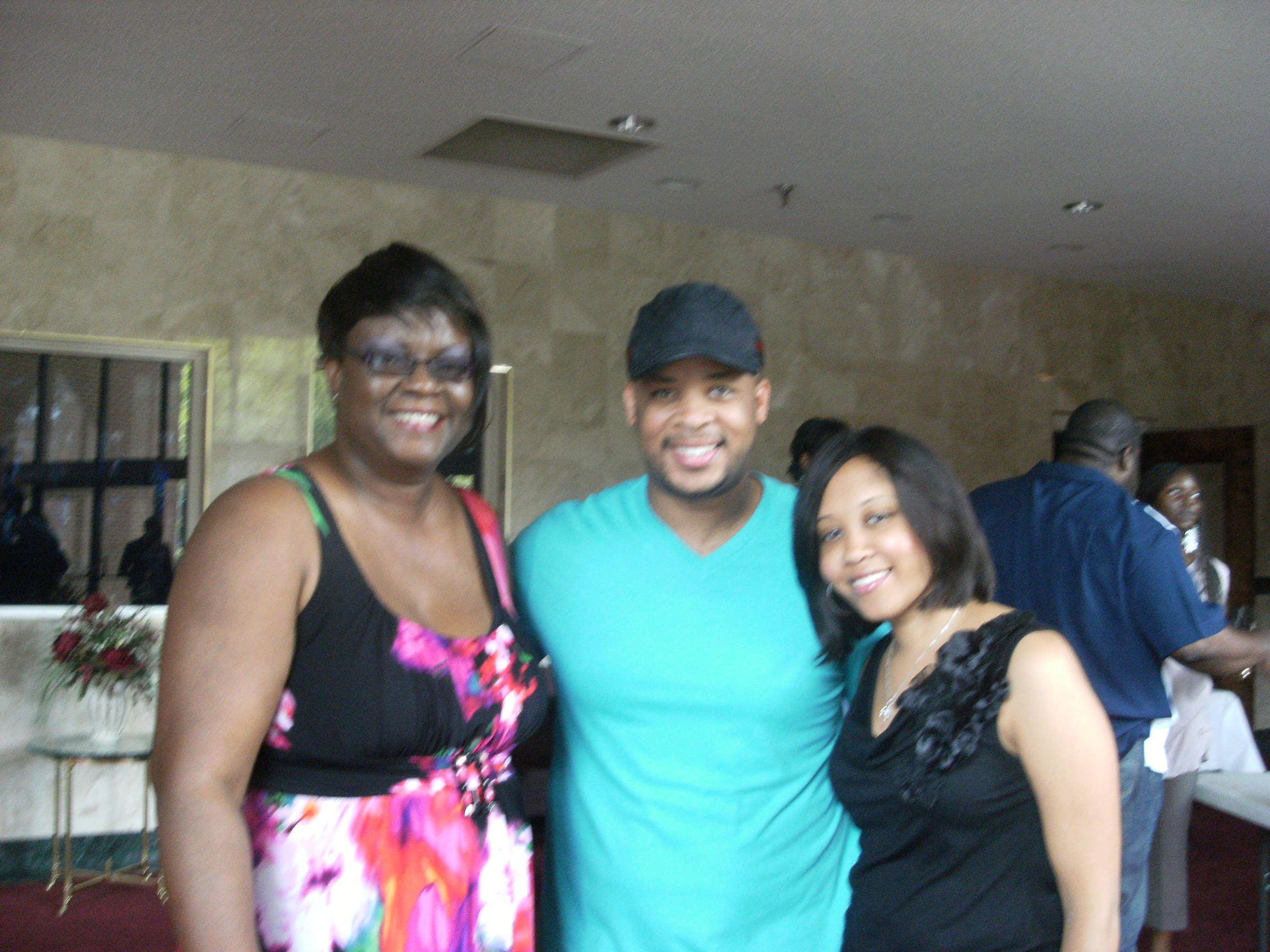 Paula with James Fortune