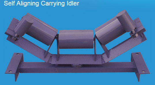 Self aligning Carrying idler