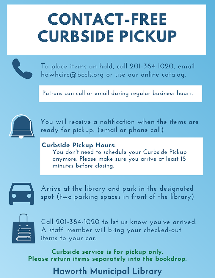new CONTACT-FREE CURBSIDE PICKUP summer.