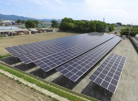 2020年6月3日|徳島県吉野川市鴨島町喜来字乗島太陽光発電所の連携運転を開始いたしました。