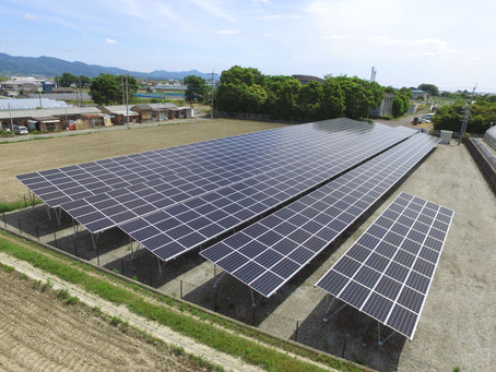2020年6月3日 徳島県吉野川市鴨島町喜来字乗島太陽光発電所の連携運転を開始いたしました。