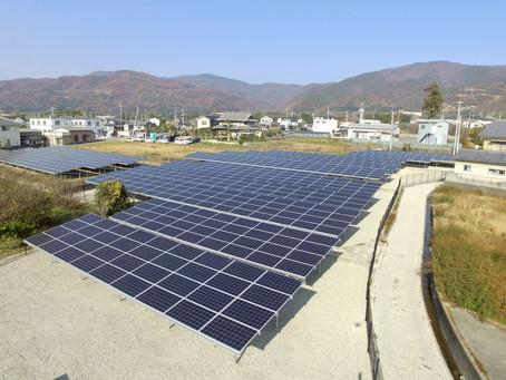 2021年1月7日 徳島県阿波市土成町字大木太陽光発電所の連携運転を開始いたしました。