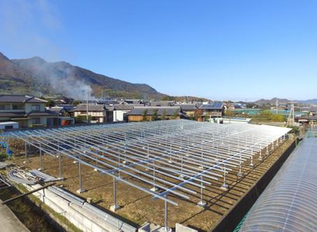 2019年12月2日|営農型ソーラーシェアリング(426.06kW)の建設を開始しました。