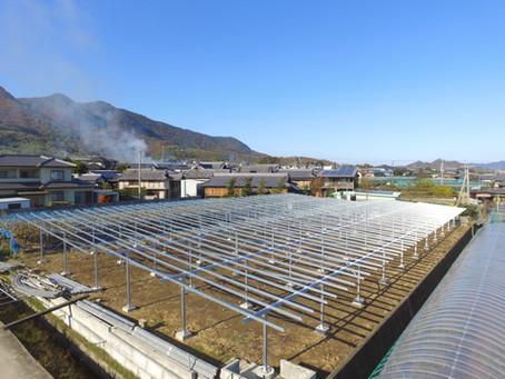 2019年12月2日 営農型ソーラーシェアリング(426.06kW)の建設を開始しました。