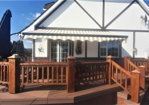Adagio Retractable Awning Gardenzone fitted