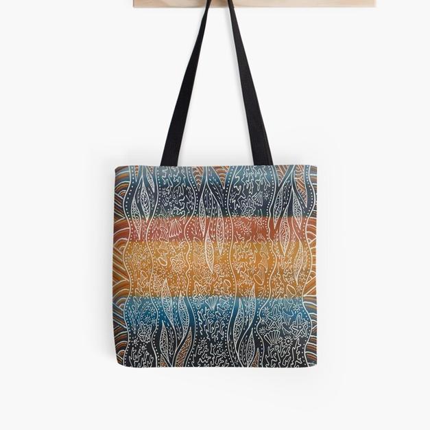 Allover Tote Print Bag