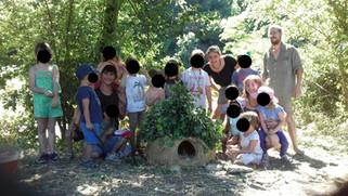 """Découverte de la """"Terre-paille"""" au jardin du lien avec le foyer rural """"Les p'tits"""