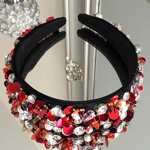 Florence Headband Red