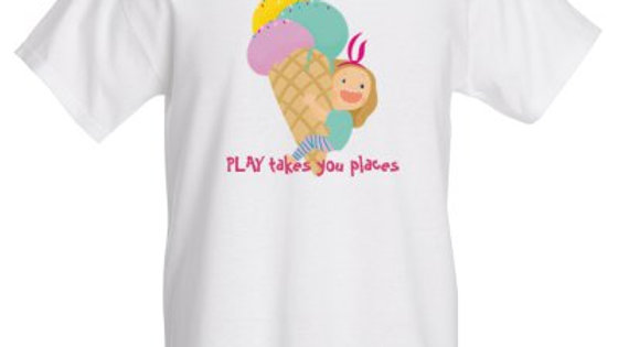 """""""PLAY takes you places"""" Cotton T-Shirt"""
