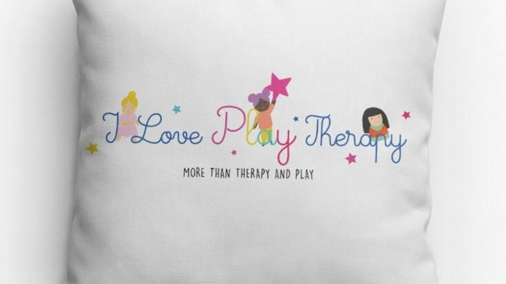 """I love Play Therapy"" Pillow 14"" x 14"""