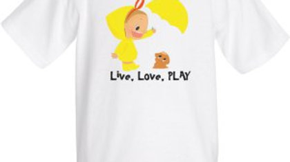 """Live, Love, PLAY"" Cotton T-Shirt"