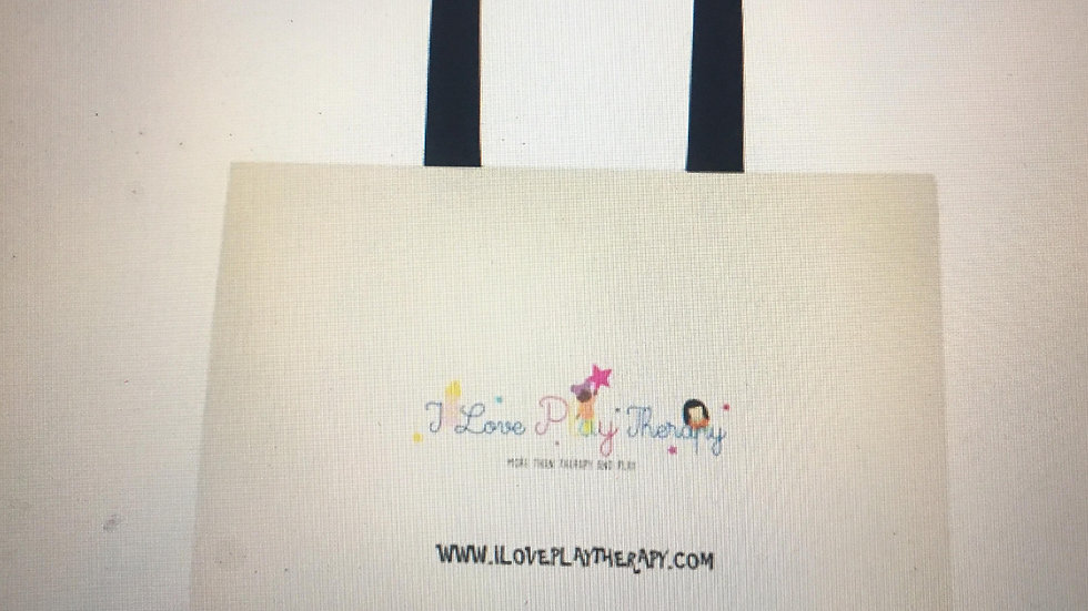"""""""I love Play Therapy"""" Cotton Tote Bag"""