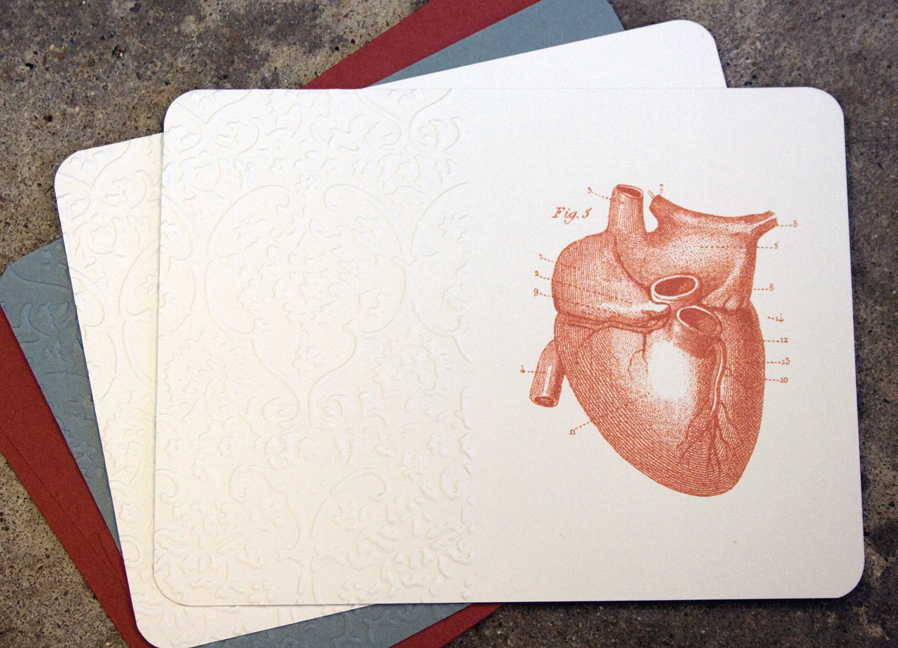 Embossed Anatomical Heart
