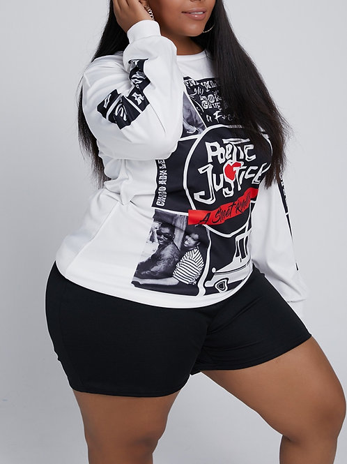 Plus Size poetic justice tee