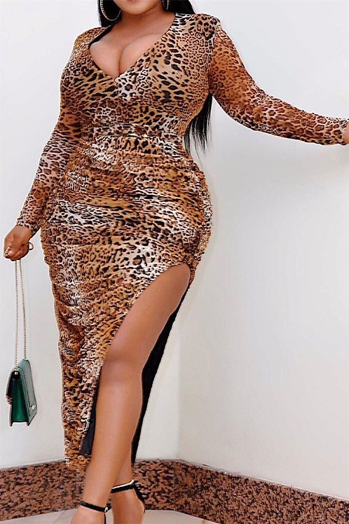 Cheetah Plus size Dress